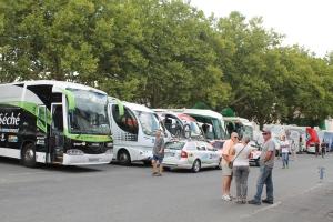 Team buses